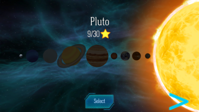 Planet selection screen. Pretty cunning, don'thchya think?